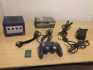 Game Cube with 5 Games - Mario Party 4 & 5, Resident Evil 1 & 4, Mario Baseball for Sale in Philadelphia, PA