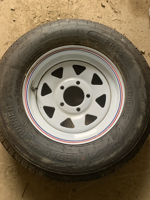 Road runner replacement tire and rim 13 inch five hole for Sale in Evansville, IN