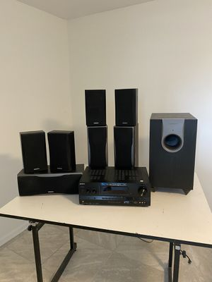 Sony Multichannel Receiver & Onkyo Surround Sound Speakers and Subwoofer for Sale in Magna, UT