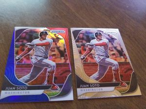 Panini Juan Soto Prizm 2 card lot for Sale in Okatie, SC