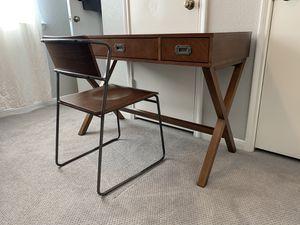 Modern Wooden Desk & Chair for Sale in Houston, TX