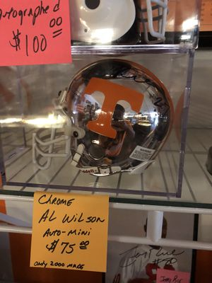 Al Wilson Autographed Chrome mini Helmet for Sale in Knoxville, TN