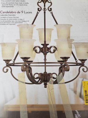 Aged Bronze chandelier -PineappleRob for Sale in Las Vegas, NV