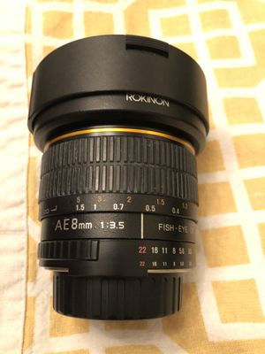 Rokinon Ultrawide fish eye lens Nikon mount for Sale in Milton, GA