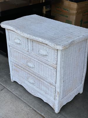 Wicker dresser chest for Sale in Fresno, CA