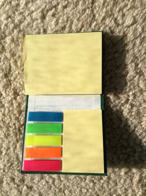 NEW!! Post-it Notes and Flags books set - USP, 2 sizes post-it notes, 5 color Flags, $12 for set of 3 books
