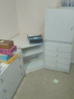 Complete School Office Desk Kids Desk Storage Filing Shelves Computer Desk Drawers for Sale in Mercer Island,  WA
