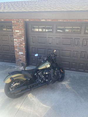 LOW MILES!!! 2016 Harley Davidson Softail Slim Army Green Edition for Sale in Chino, CA