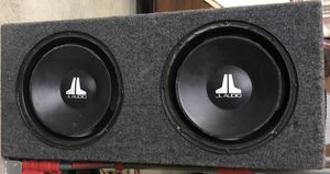 """2-12"""" jl audio subwoofers in carpeted sub box for Sale in Arcadia, CA"""