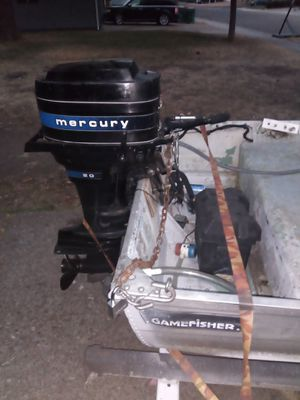 12 sea king aluminum boat with 20hp merury for Sale in Stockton, CA