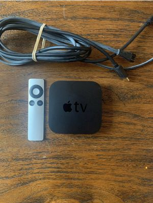 Apple TV, 2nd Generation 8 GB Media Streamer A -1378 with Remote & Power Cable for Sale in Seattle, WA