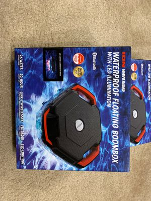Wave Rider ION Audio Waterproof Floating Boombox with LED Illumination for Sale in Malden, MA