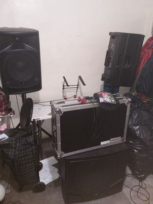 Brand new DJ equipment two 15 inch speakers and 1 18 inch speaker for Sale in Philadelphia, PA