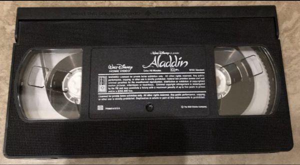 Walt Disney Classic Aladdin VHS