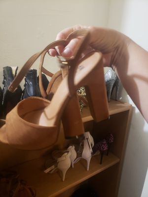 Womens tan chunky heel pumps for Sale in San Diego, CA