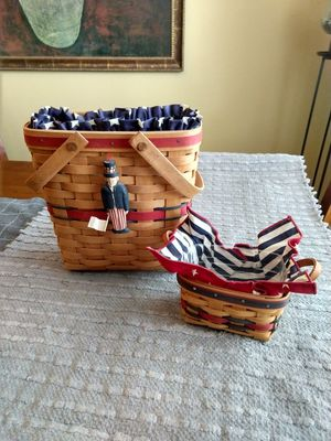 Longaberger 1991 All American basket and 1993 All Star basket for Sale in Menifee, CA