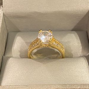 18K Gold plated Solitaire Promise/Engagement Ring- Code ISF10 for Sale in Houston, TX