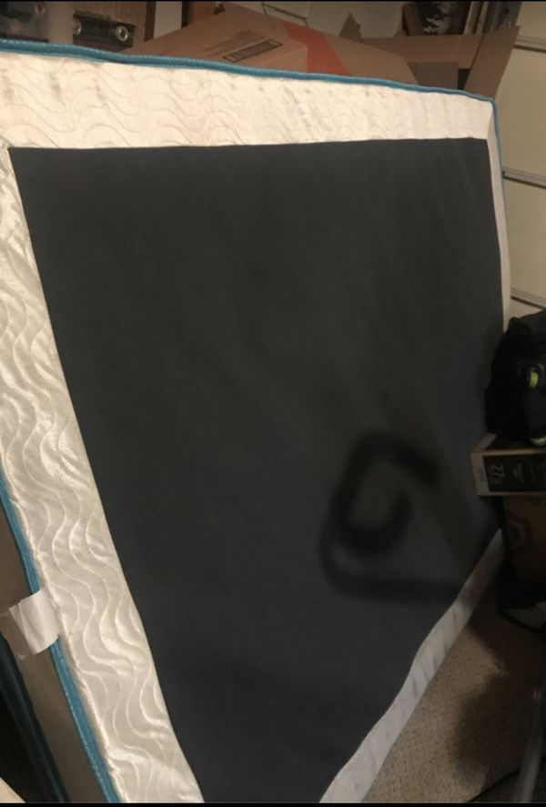 Barely used king bed! (With frame)