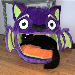 THRILLS & CHILLS PLUSH PURPLE BAT HUT SMALL ANIMAL CAT DOG HOUSE, EXCELLENT CONDITION! for Sale in Seal Beach, CA