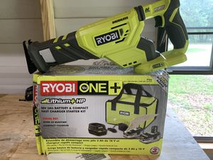 Ryobi brushless saw zaw with double battery kit not negotiable for Sale in Plant City, FL