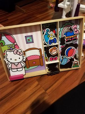 Hello Kitty magnetic wooden doll & house for Sale in Oviedo, FL