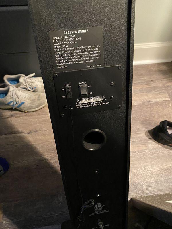 Sharper image tower speaker