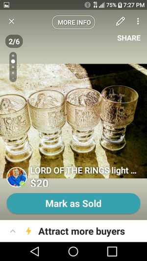 LORD OF THE RINGS collectible 4 light up glasses never used for Sale in Belleville, MI