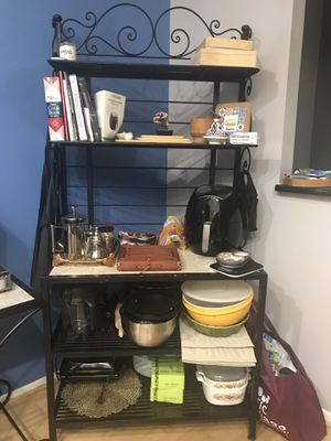 Cast iron and marble Baker Rack for Sale in Chicago, IL
