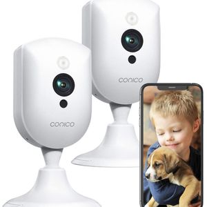 Baby Monitor with Camera and Audio,Conico 1080P Pet Camera,Dog Camera with 2 Way Audio,Motion and Sound Detection,Night Vision,WiFi Camera Indoor Came for Sale in Brooklyn, NY