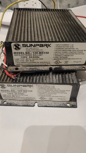 Sunpark mh ballast for Sale in Hollywood, FL