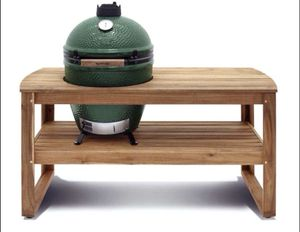 Big Green Egg - Large with Acacia Wood Table. Smoker Grill Charcoal BBQ! Sale! for Sale in Coral Springs, FL