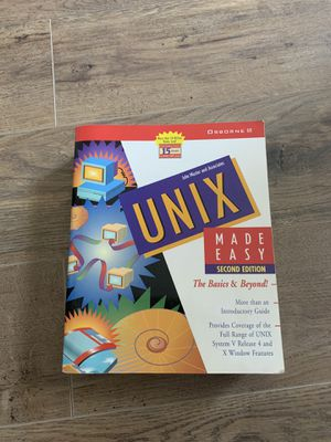 UNIX MADE EASY by John Muster $20 for Sale in Oakley, CA