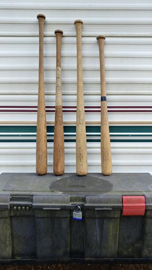 Wooden baseball bat with great baseball name on them for Sale in Millbury, MA