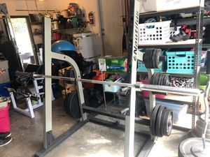 Nautilus Bench Press/Squat rack with incline / decline bench for Sale in Kennewick, WA