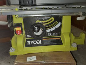 RYOBI 15 Amp 10 in. Table Saw with Folding Stand. for Sale in Greensburg, PA