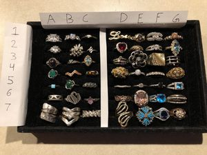 Lots of rings from sterling silver. Brass. And costume jewelry for Sale in Phoenix, AZ
