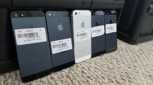 Unlocked iPhone 5 16GB great condition wholesale lot of 5 for Sale in North Miami Beach, FL