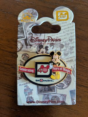 Disney pin celebrating 40 years of magic Walt Disney World with Mickey Mouse for Sale in Glendale, AZ