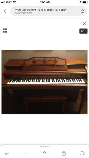 1990's upright Wurlitzer piano in excellent condition. Must pick up. 350.00 dollars or best offer. for Sale in Waterbury, CT
