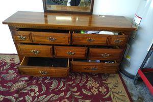 Wood Dresser and Vanity Mirror for Sale in GRANT VLKRIA, FL