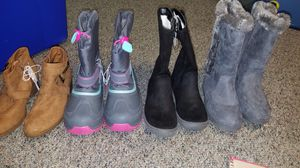 Size 3 youth girls boots and shoes new!!!! for Sale in Kernersville, NC