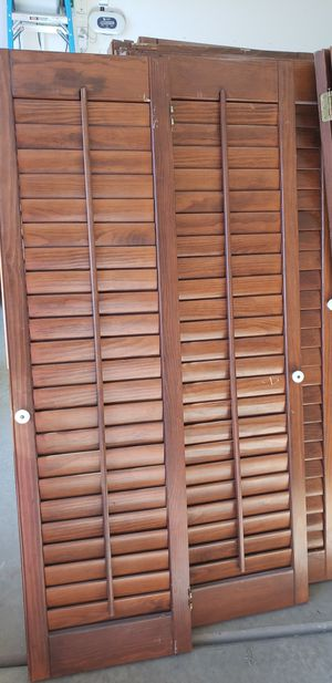 Beautiful Real wood shutters for Sale in Upland, CA