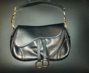 Christian Dior Black Leather Saddle Bag for Sale in Houston, TX