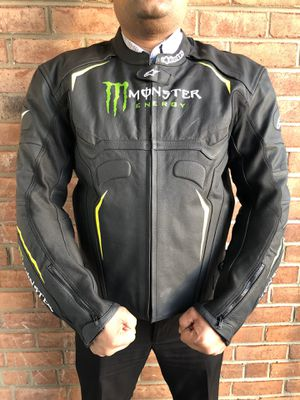 Alpinestar Monster Energy Motorbike Leather Jacket 3XL for Sale in Alexandria, VA