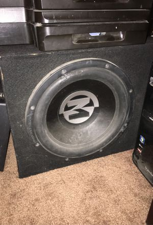 Subwoofer and amp for Sale in Bakersfield, CA