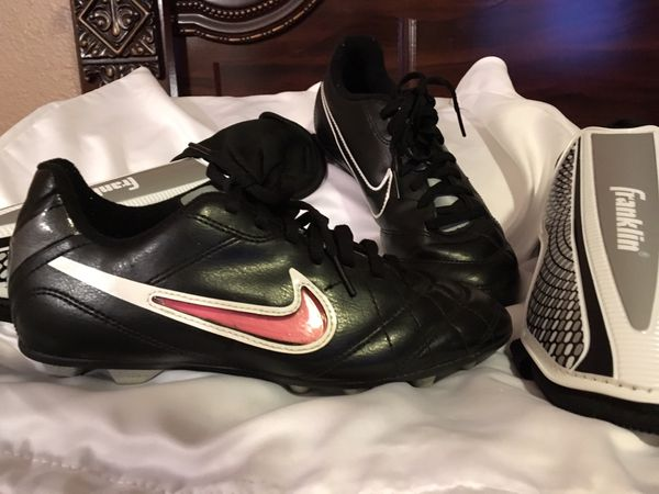 Nike Soccer Cleats and shin guards