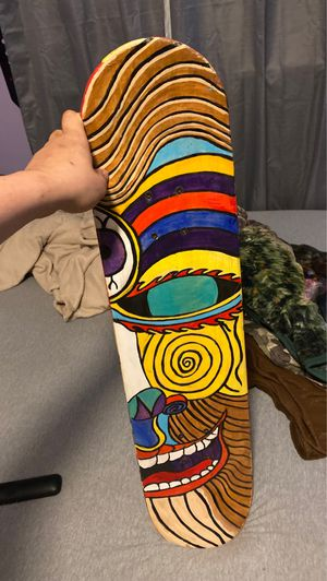 Modern art skateboard -Nate pace for Sale in Orwell, OH