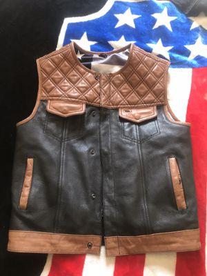 Rebel reaper bourbon motorcycle vest with gun pockets for Sale in Ontario, CA
