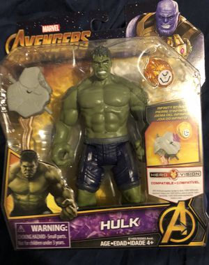 Incredible Hulk 6 inch action figures marvel avengers infinity war collectible for Sale in Queens, NY