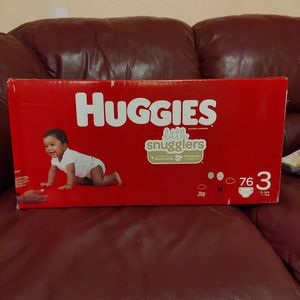 76 Huggies Little Snugglers Diapers Size 3 for Sale in Sunnyvale, CA